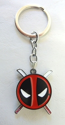 Deadpool alloy keychain - Deadpool emblem with spinning swords China, Deadpool, Keychains, 2017|Color~red|Color~black|Color~white, comedy, movie
