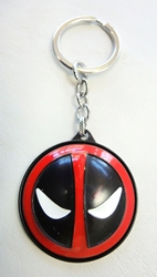 Deadpool alloy keychain - Deadpool emblem on spinning shield China, Deadpool, Keychains, 2017|Color~red|Color~black|Color~white, comedy, movie