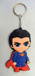 Superman Soft plastic keychain - 3.25 inch Superman China, Superman, Keychains, 2017|Color~blue|Color~red|Color~fleshtone, superhero, comic book