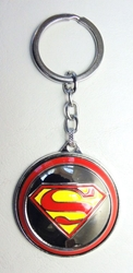 Superman alloy keychain - Superman logo on spinning shield China, Superman, Keychains, 2016|Color~yellow|Color~red|Color~chrome, superhero, comic book