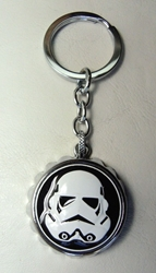 Star Wars alloy keychain - Stormtroooper Bottle Opener Cap China, Star Wars, Keychains, 2017|Color~white|Color~black, scifi, movie