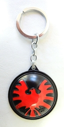 Agents of SHIELD alloy keychain - Spinning SHIELD emblem medallion China, Agents of SHIELD, Keychains, 2017|Color~black|Color~red, superhero, tv show