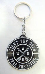 Walking Dead alloy keychain - Fight the Dead Fear the Living medallion China, Walking Dead, Keychains, 2017|Color~black, horror, halloween, tv show