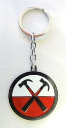 Pink Floyd alloy keychain - Crossed Hammers Medallion China, Pink Floyd, Keychains, 2017|Color~black|Color~white|Color~red, rock, movie