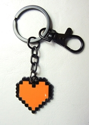 Undertale alloy keychain - Soul Heart (red-orange) China, Undertale, Keychains, 2017|Color~red|Color~black, fantasy, video game