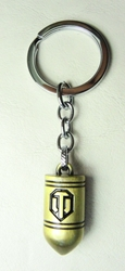 World of Tanks  alloy keychain - Bullet (brass) China, World of Tanks, Keychains, 2017|Color~brass, military, video game