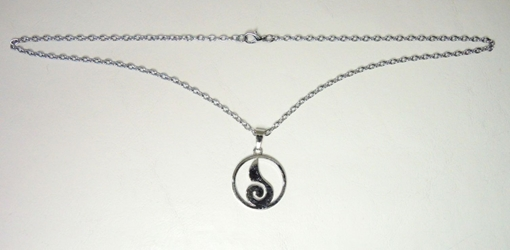 Naruto alloy necklace - Chakra flame symbol (chrome) China, Naruto, Necklace, 2017|Color~chrome, educational