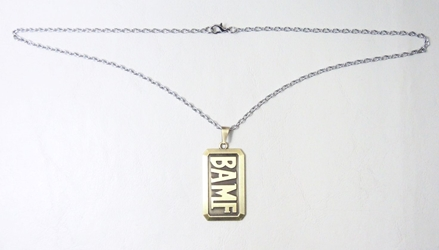 Overwatch alloy necklace - BAMF dog tag (brass) China, Overwatch, Necklace, 2017|Color~brass, superhero, video game