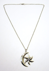 The Elder Scrolls alloy pendant necklace - Moon and Star Emblem (brass) China, The Elder Scrolls, Necklace, 2016|Color~brass, fantasy, video game
