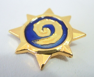 Hearthstone alloy pin - Hearthstone China, Hearthstone, Novelty Jewelry, 2017|Color~gold|Color~blue, fantasy, game