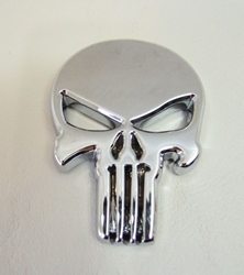 The Punisher Skull Emblem metal alloy car ornament China, The Punisher, Novelty Jewelry, 2017|Color~chrome, superhero, comic book