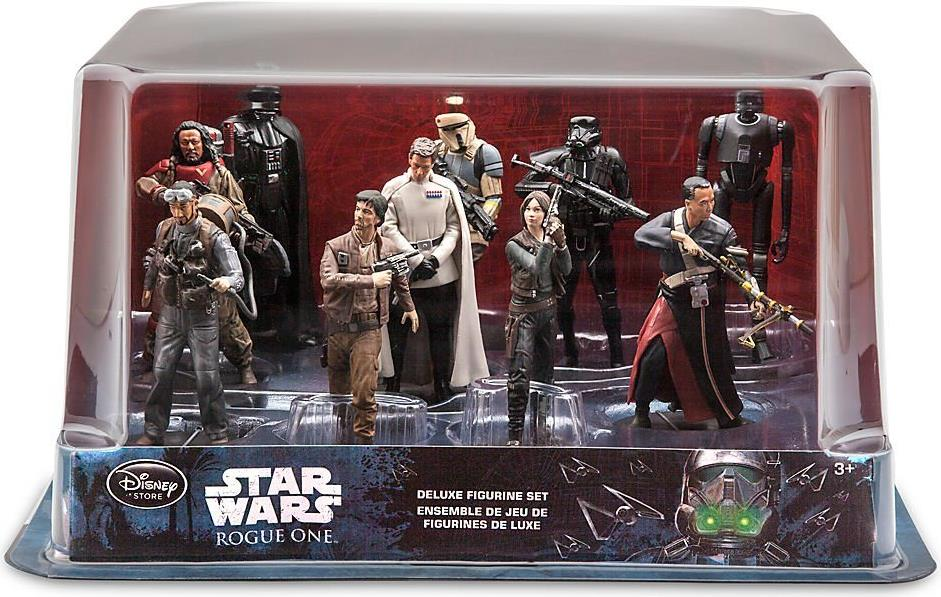 Star Wars 4 inch Figures - Deluxe 10 Figurine Set Disney, Star Wars, Action Figures, 2016, scifi, movie