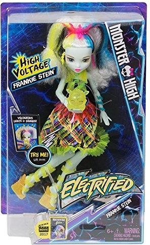 Mattel Monster High Doll - Electrified High Voltage Frankie Stein Mattel, Monster High, Dolls, 2016, teen, fashion, movie