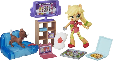 Hasbro 2016 My Little Pony - Equestria Girls Minis Applejack Slumber Party Games Set Hasbro, My Little Pony, Littlest Pet Shop, 2016, cute animals