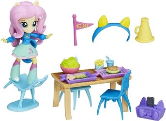 Hasbro 2016 My Little Pony - Equestria Girls Minis Fluttershy School Cafeteria Set Hasbro, My Little Pony, Littlest Pet Shop, 2016, cute animals