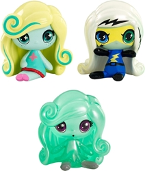 Mattel 2015 Monster High 1.5 inch Figures - Frankie Stein Lagoona Blue and Getting Ghostly Twyla Minis 3 Pack Mattel, Monster High, Dolls, 2015, teen, fashion, movie