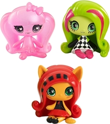 Mattel 2015 Monster High 1.5 inch Figures - Getting Ghostly Draculaura Circus Ghouls Venus McFlytrap and an Original Ghouls Toralei Minis 3 Pack Mattel, Monster High, Dolls, 2015, teen, fashion, movie