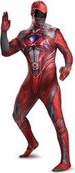 Power Rangers - Red Ranger Bodysuit Costume - Size: Adult-Medium Disguise, Power Rangers, Cosplay, 2017|Color~red, scifi, tv show