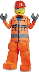Lego Costume - Construction Worker Size L (10-12) Disguise, Lego, Cosplay, 2017, kidfare, movie