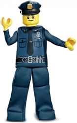 Lego Costume - Police Officer Size L/G (10-12)  Disguise, Lego, Cosplay, 2017, kidfare, movie
