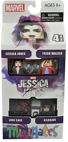 Diamond Select Jessica Jones 2  inch Figures - Jessica Jones TV Series Minimates 4-pack Diamond Select, Jessica Jones, Action Figures, 2016