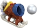 Fisher-Price Imaginext 2.7 inch Figure - Yeti Adventure: Ice Cannon Sleigh - 11065-11001CCCGUH