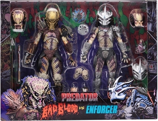 NECA Predators 8 inch Figure 2-Pack - Ultimate Bad Blood Vs Enforcer  NECA, Predators, Action Figures, 2018, scifi, movie