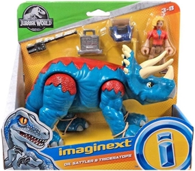 Fisher-Price Imaginext Jurassic World - Dr Sattler & Triceratops Fisher-Price, Imaginext, Action Figures, 2018, adventure