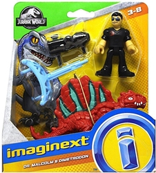 Fisher-Price Imaginext Jurassic World - Dr Malcolm & Dimetrodon Fisher-Price, Imaginext, Action Figures, 2018, adventure