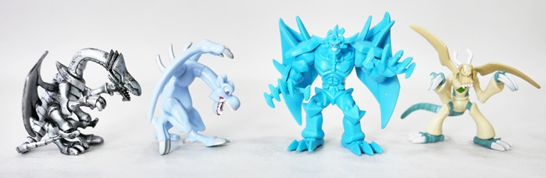 Yu-Gi-Oh! Loose 2 inch Figures - Obelisk the Tormetor & 3 Dragons Mattel, Yu-Gi-Oh!, Action Figures, 2003, animated, game
