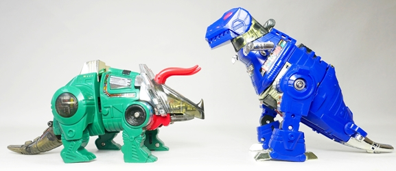 Transformers Dinobots Loose - G2 Grimlock & G2 Slag Hasbro, Transformers, Action Figures, 1993, scifi, movie