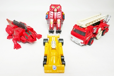 Transformers Loose Figures - Iguana, Drag strip, Hoot &  Inferno China, Transformers, Action Figures, 1984, scifi, movie