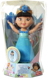 Fisher-Price Dora Saves the Crystal Kingdom 7 inch Dolls - Spin and Sparkle Blue Crystal Dora Fisher-Price, Dora Saves the Crystal Kingdom, Dolls, 2009