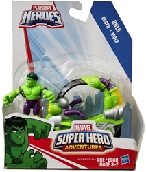 Playskool Marvel Super Hero Adventures 2.75 inch Figure - Hulk  with Tread Racer Vehicle Playskool, Marvel Super Hero Adventures, Action Figures, 2014