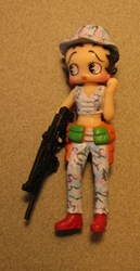 Betty Boop 3 inch Soldier - Pale blue camo pants & vest China, Betty Boop, Action Figures, celebrity, cartoon