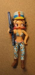 Betty Boop 3 inch Soldier - Pale blue camo pants & bikini China, Betty Boop, Action Figures, celebrity, cartoon