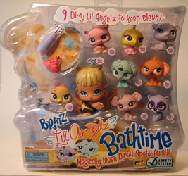 Bratz Lil Angelz Bathtime Set with Cloe and 8 Petz MGA, Bratz, Dolls, 2008, fashion, toy
