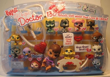 Bratz Lil Angelz Doctor Set with Yasmin & 12 Lil Petz MGA, Bratz, Dolls, 2008, fashion, toy