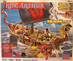 Mega Bloks 96120 King Arthur Attack Action Warship Mega Bloks, King Arthur, Legos & Mega Bloks, 2008, warriors, folklore