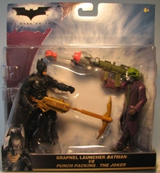 Batman The Dark Knight - 5.2 inch Batman vs The Joker Mattel, Batman, Action Figures, 2008, superhero, comic book