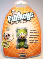 Funkeys Sprout (daisy-face & green body) 2.5 inch figure