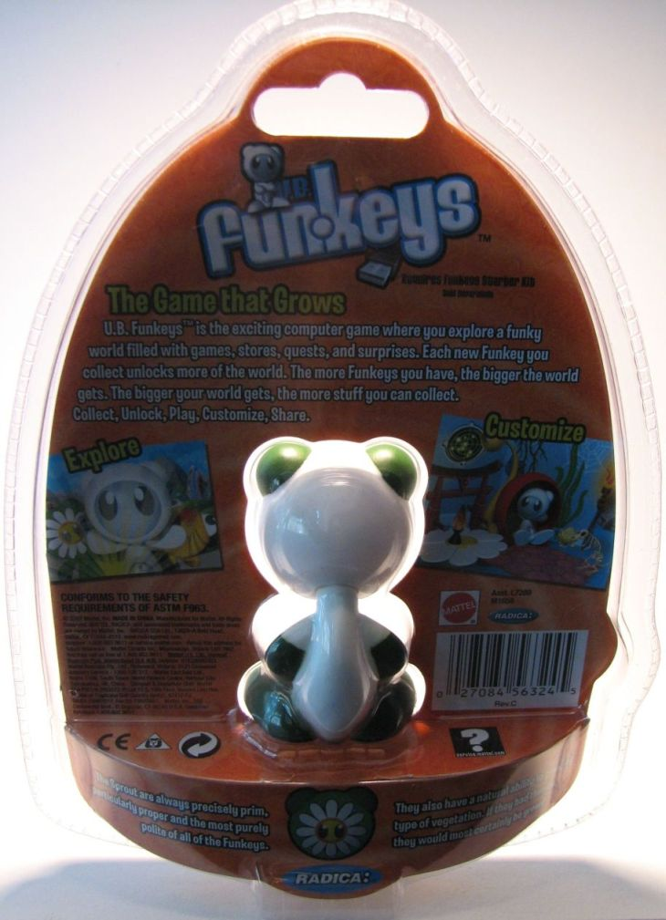 Funkeys Sprout (daisy-face & white body) 2.5 inch figure - 2088-2319CCCVGF