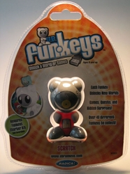 Funkeys Scratch (vinyl record face & red body) 2.5 inch