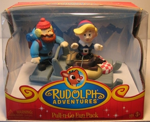 Rudolph Adventures - Pull-n-Go - Yukon`s Sled Forever Fun, Rudolph, Action Figures, 2008, Christmas, tv show