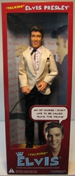 Talking 12 inch Elvis Presley Doll (white jacket) Talking Presidents, Elvis, Dolls, 2002, rock, rock