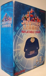 Justice League Inflatable Chair (silver-colored) (new) Kellytoy, Justice League, Preschool, 2005, superhero, comic book