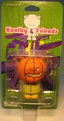 Koolby and Friends - Series 1 - (Pumpkin-face) Bigatron, Koolby and Friends, Action Figures, 2008, animated, art