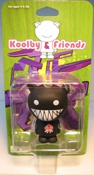 Koolby and Friends - Series 1 - (Black cat Asteroids T) Bigatron, Koolby and Friends, Action Figures, 2008, animated, art