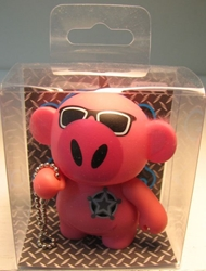 Monskey - Series 2.5 - Johnny Q (pink pig) Bigatron, Monskey, Action Figures, 2008, animated, art