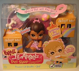 Bratz Lil Angelz Pet Store Surprise - Yasmin (+2 pets) MGA, Bratz, Dolls, 2008, fashion, toy